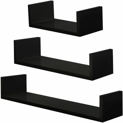 "main image of ""3 floating shelves Luisa - wall shelf, wall mounted shelf, hanging shelf"""