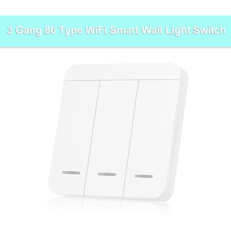 3 Forma Inteligente pared interruptor de la luz del interruptor, 315MHZ / 433MHz