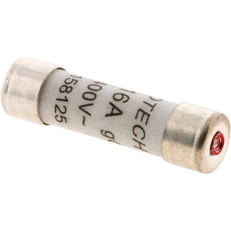 3 fusibles cilíndricos 8,5X31,5 - 16A con indicador