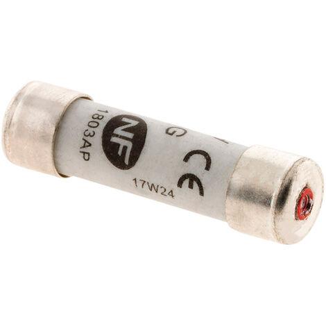 3 fusibles cilíndricos 8,5X31,5 - 20A con indicador