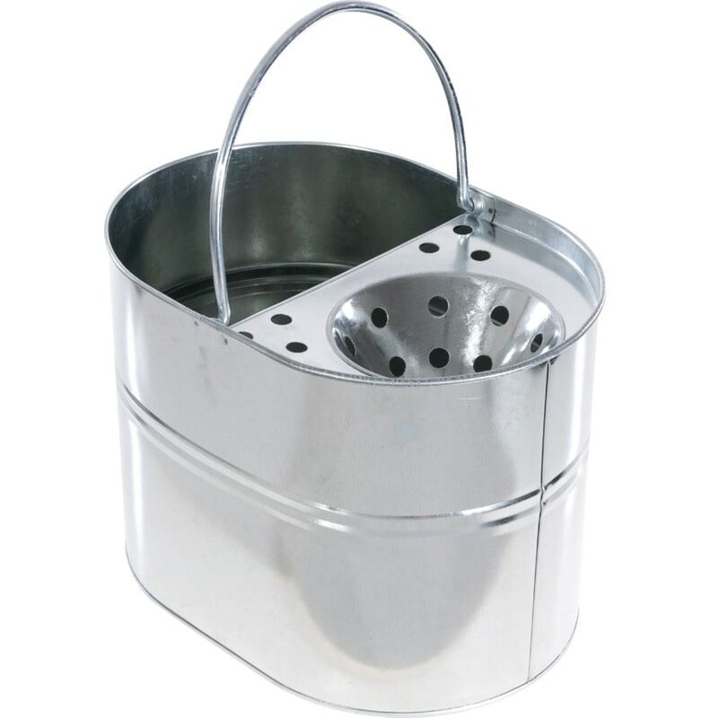 Image of 3 Gallon Galvanised Heavy Duty Mop Bucket - Cotswold