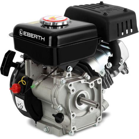 3 HP 2 kW Petrol Engine Standing Engine Kart Engine Drive Engine Exchange Engine (16 mm Ø Shaft, Low Oil Level Indicator, 1 Cylinder Petrol Engine, 4-Stroke, air Cooled, Cable Start) Black