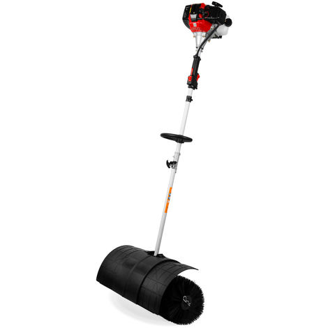 3 HP Petrol powered broom (2-stroke petrol engine, 60 cm all season brushes, incl. carrying strap) Sweeper Snow Brush