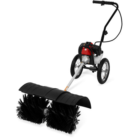 3 HP Petrol powered broom with chassis (2-stroke petrol engine, 60 cm all season brushes, incl. chassis) Sweeper Snow Brush