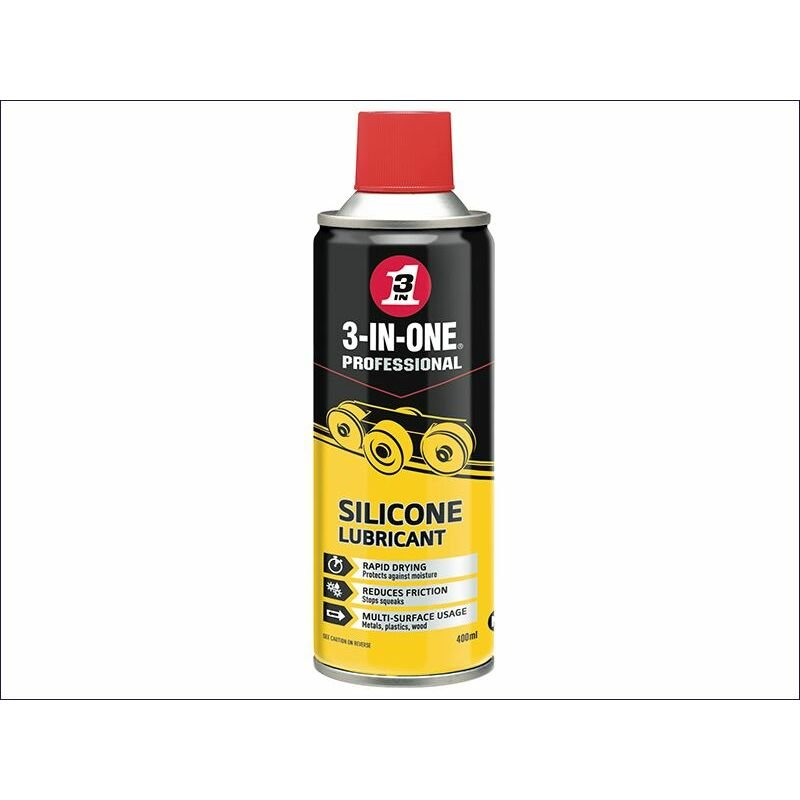 Image of Silicone Spray 400ml (HOW44015) - 3-in-one