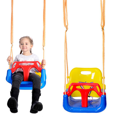 3 in 1 Baby Seat Children's Swing with Adjustable Backrest Safety Belt Max Load 200Kg