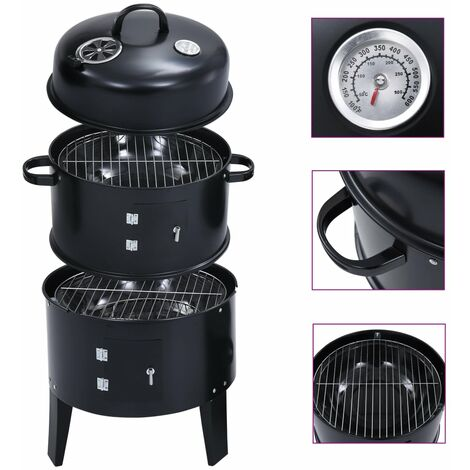 """main image of """"3-in-1 Charcoal Smoker BBQ Grill 40x80 cm"""""""