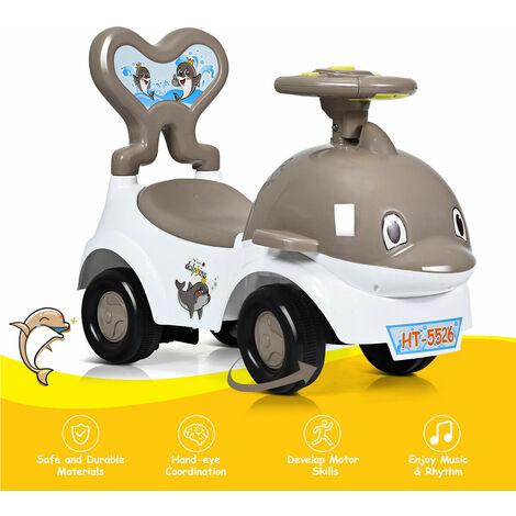 3 IN 1 Children Ride-on Push Along Car Walker Slider Ride on Push Vehicle Toy Grey