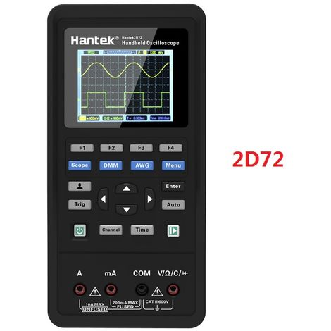 3 In 1 Digital Oscilloscope + Waveform Generator + Portable USB Multimeter 2 Channels 40mhz 70mhz