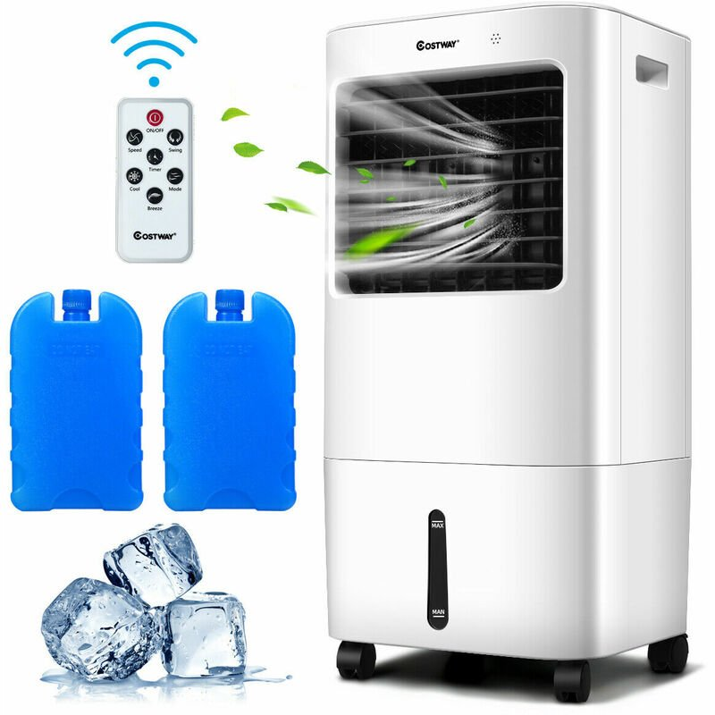 Image of 3 in 1 Evaporative Air Cooler Fan Cooling Fan Humidifier Remote Control Home