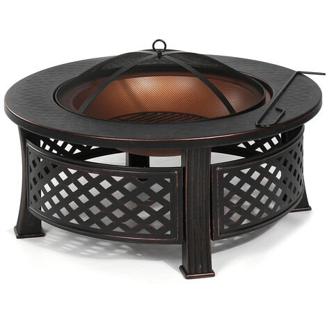 """main image of """"3 in 1 Fire Pit Patio BBQ Brazier Bowl Garden Fireplace Heater Camping Outdoor"""""""