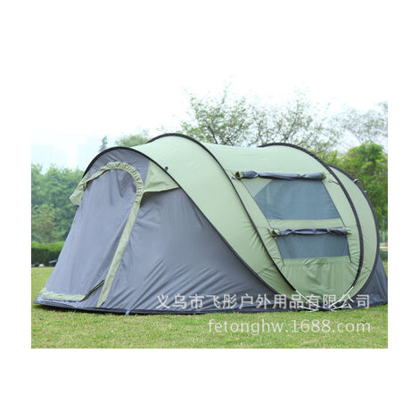 [3 IN 1, for 5-8 people] Automatic setup Large camping tent Waterproof UV resistance in two sizes Sun shelters for hiking Fishing Travel Beach (armygreen, B 250x150x110CM)