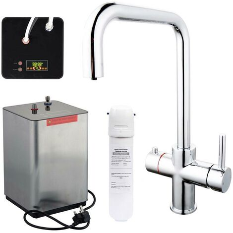 3 in 1 Instant Boiling Water Hot Cold Water Kitchen Tap Filter & Digital Tank