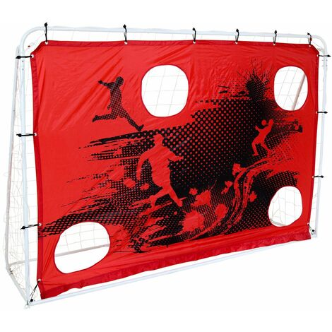 3-In-1 Target Shoot 7Ft X 5Ft Sturdy Steel Frame Football Goal & Net Portable