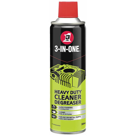 3-IN-ONE 44605 Heavy Duty Cleaner Degreaser 500ml