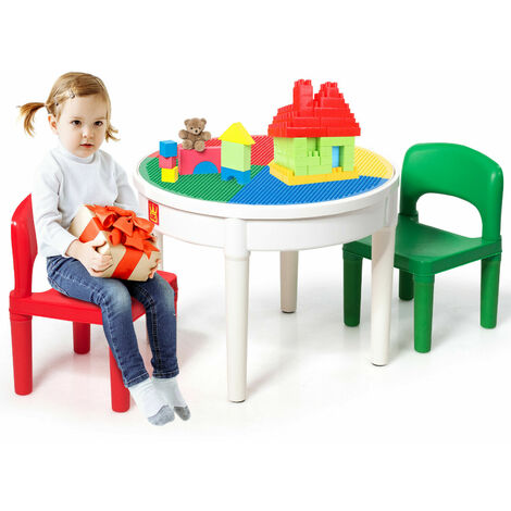 """main image of """"3 in1 Kids Building Block Base Activity Table Set Multi-Purpose Play Table Set"""""""