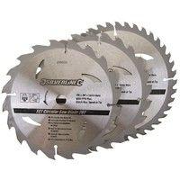 3 lames scie circulaire TCT 20, 24 et 40 dents - 190 x 16 mm - pas de bague de réduction