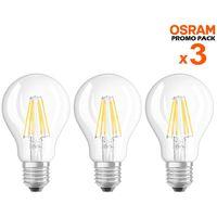3 Lampadine LED Bulbo E27 da 6W Luce Neutra 4000K 806 Lumen Equivalente 60W