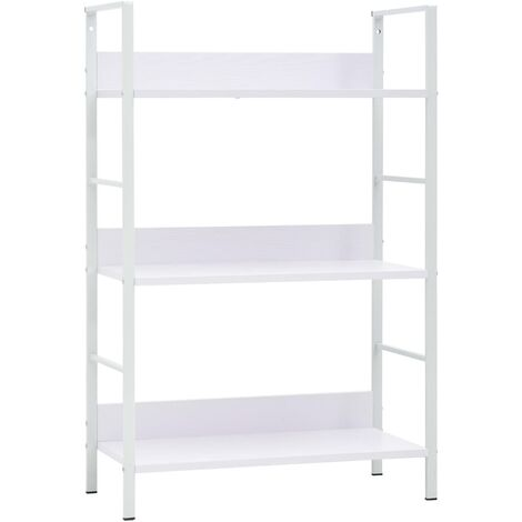 3-Layer Book Shelf White 60x27.6x90.5 cm Chipboard