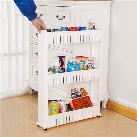 3 Layer Plastic Storage Rack White