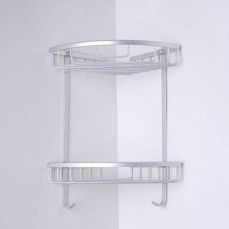 3-Layer Triangular Shower Bathroom Wall Storage Shelf Basket (7.87 '' x12.99``)