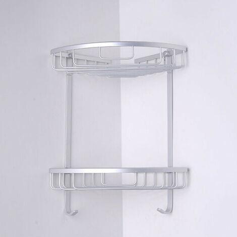 "main image of ""3-Layer Triangular Shower Bathroom Wall Storage Shelf Basket (7.87 '' x12.99``)"""