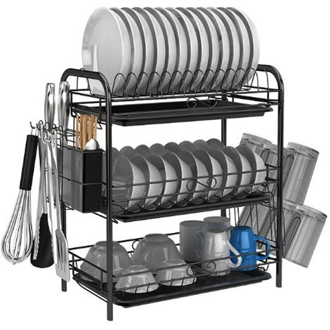 3 Layers Drainer Clothes Rack Large Capacity Kitchen Storage Sink