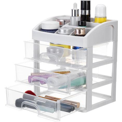 3 Layers Makeup Cosmetic Storage Box Drawer Jewelry Holder Organizer