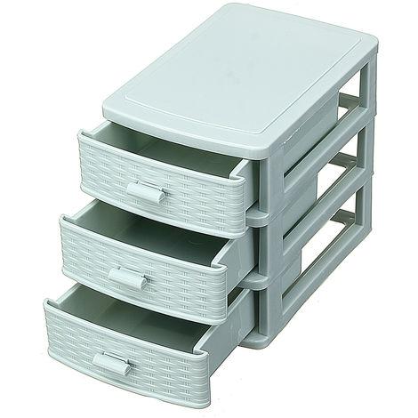 3 Layers Mini Desk Drawer Makeup Jewel Diary Support Box Storage Hasaki