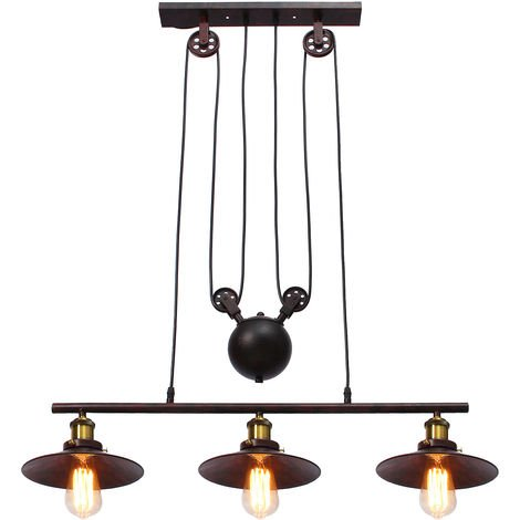 3-Light Adjustable Retro Adjustable Pendant Light
