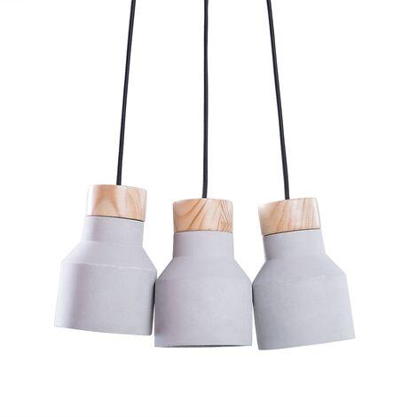 3 Light Cluster Pendant Lamp Grey BAHT