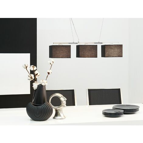 3 Light Pendant Lamp Black GARONNE