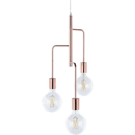 3 Light Pendant Lamp Copper BOGNA