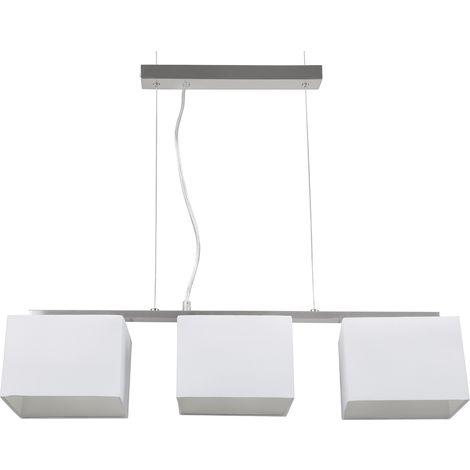 3 Light Pendant Lamp White GARONNE