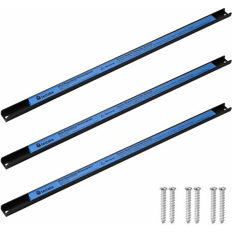 3 Magnetic strips - tool rack, tool holder, magnetic tool holder - black/blue