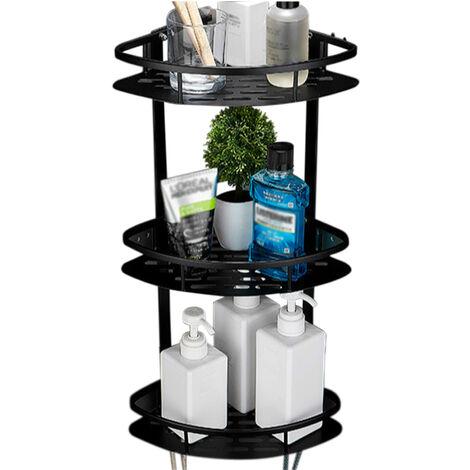 3 Nivel de ducha de esquina Ducha Caddy Organizador montado en la pared de aluminio plataforma de bano Ducha ninguna perforacion Adhesivo de almacenamiento en rack de almacenamiento de la cesta de aseo dormitorio cocina, 3 Niveles Triangulo