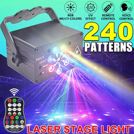 (3 Options) 240/120/60 modèles Laser scène lumière RGB LED USB projecteur fête KTV DJ Disco lampe fête lumières