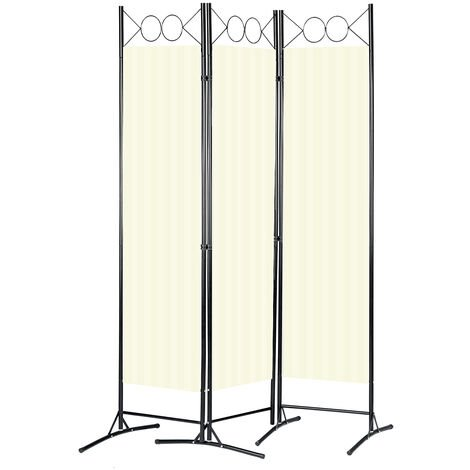 """main image of """"3-Panel Folding Room Divider Partition Wall Separator Privacy Screens 120x180cm"""""""