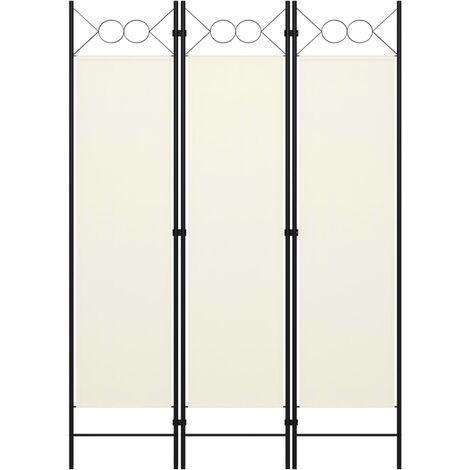 3-Panel Room Divider White 120x180 cm
