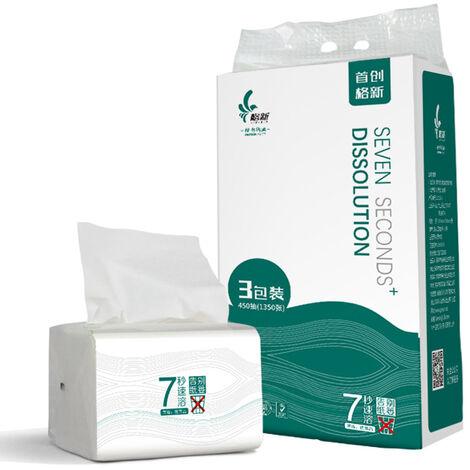 3 Paquets 3-Couche Multi-Fold Papier Absorbant Tissu Individuel Papier Pack Voyage Serviettes Rapid-Dissolvantes Papier Toilette Doux Et Fort