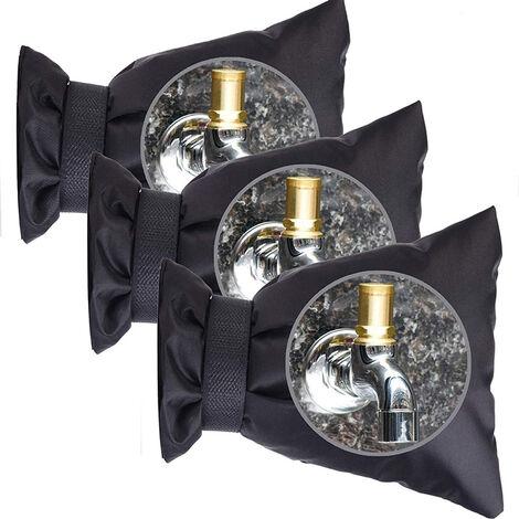 3 pcs Housse de Protection Robinet Extérieur Chaussettes Robinet Chaussette de Protection Contre Le Gel pour l'Hiver Housse de Protection de Robinet Externe Antigel.