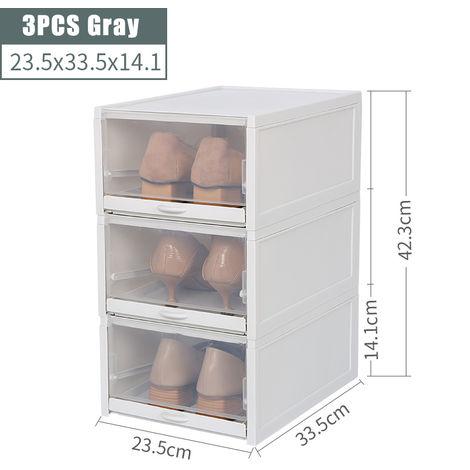 3 Pcs / Set Storage Shoe Box Dust-proof Drawer Type Resistant To Resistant