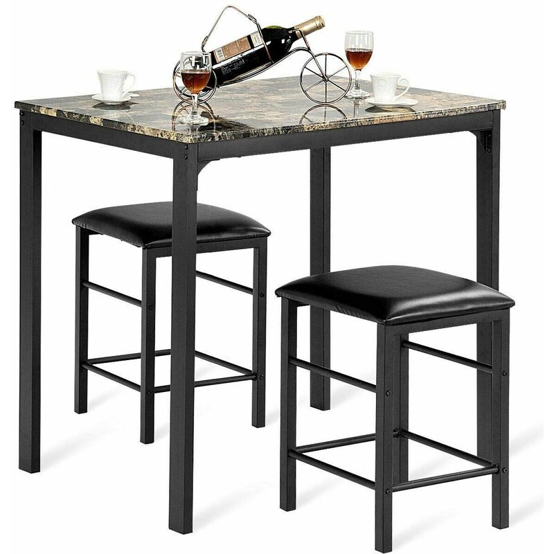 3 Pezzi Tavolo con 2 Sedie Set Mobile da Pranzo Mobili da ...