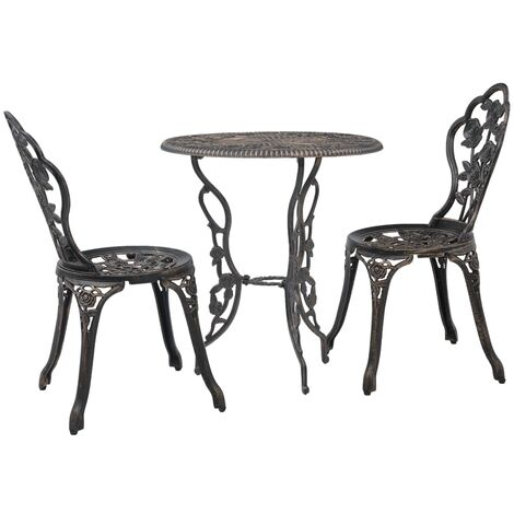 3 Piece Bistro Set Cast Aluminium