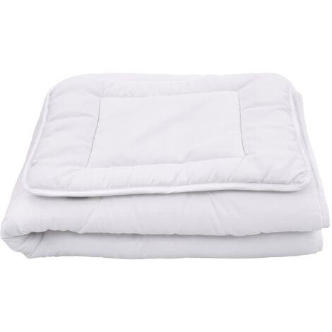 3 Piece Kids Duvets Set White 120x150 cm/40x60 cm