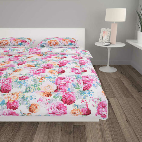 3 Piece Winter Duvet Set Fabric Printed 200x200/60x70 cm