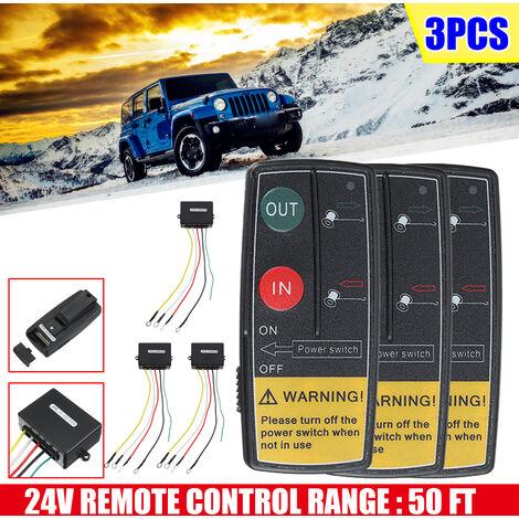"""main image of """"3 pièces 24V treuil sans fil Kit de télécommande interrupteur de combiné pour voiture camion ATV SUV"""""""
