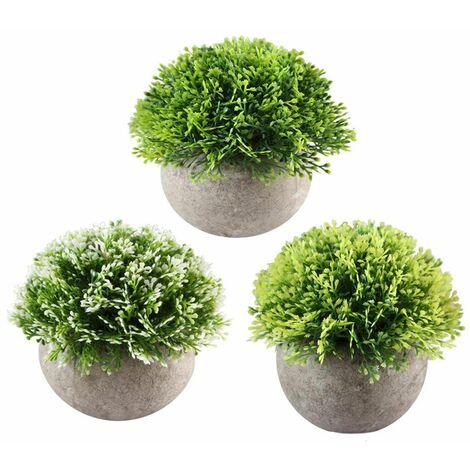 3 pi ces de petites plantes artificielle avec pot int rieur exterieur fleur artificielles pour. Black Bedroom Furniture Sets. Home Design Ideas