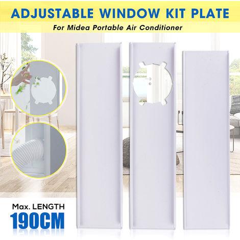 3 piezas 190 cm aire acondicionado portátil ventana deslizante kit placa tubo de escape tubo tubo conector para Midea
