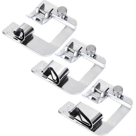 """main image of """"3 piezas de pie ancho conjunto dobladillo dobladillo enrollado ajustable prensatelas a presion"""""""